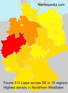 Surname Lippe in Germany