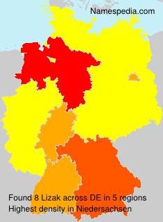 Familiennamen Lizak - Germany