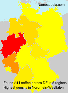 Surname Loeffen in Germany