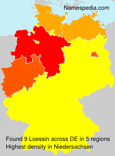 Surname Loessin in Germany