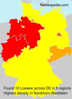 Surname Loewke in Germany