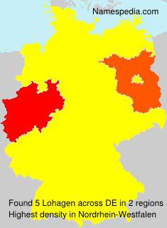 Familiennamen Lohagen - Germany