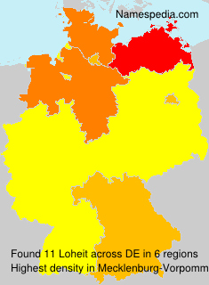 Surname Loheit in Germany