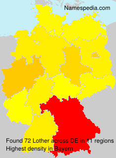Surname Lother in Germany