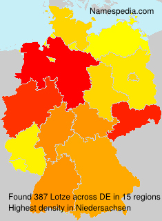 Surname Lotze in Germany