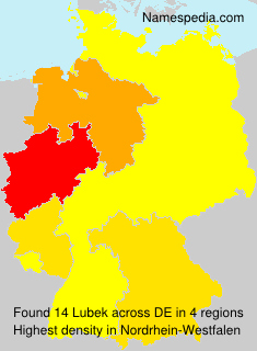Surname Lubek in Germany