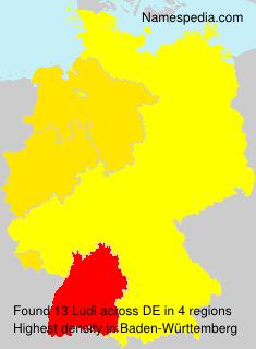 Surname Ludi in Germany
