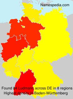 Familiennamen Ludmann - Germany