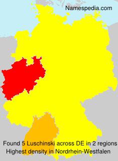 Familiennamen Luschinski - Germany