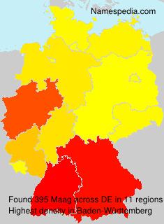 Familiennamen Maag - Germany
