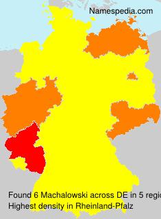 Surname Machalowski in Germany