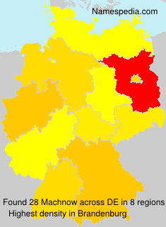 Surname Machnow in Germany