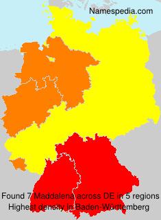 Surname Maddalena in Germany