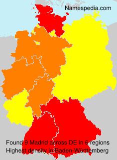 Surname Madrid in Germany