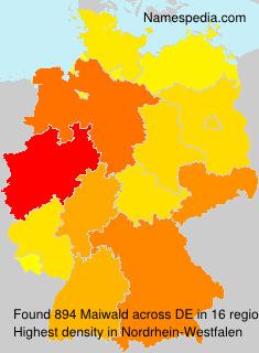 Familiennamen Maiwald - Germany
