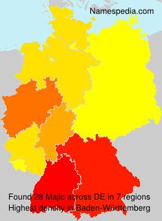 Surname Majic in Germany
