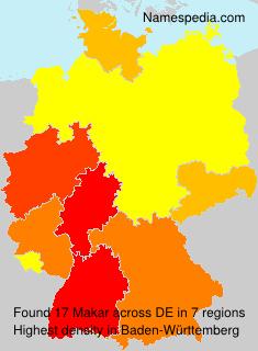 Surname Makar in Germany