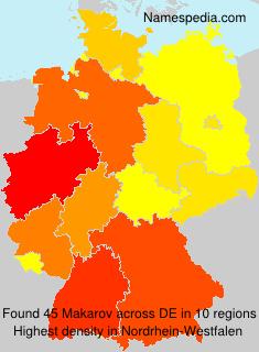 Surname Makarov in Germany