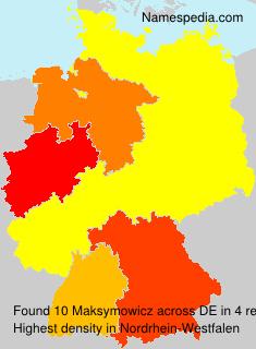 Familiennamen Maksymowicz - Germany