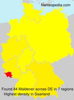 Surname Maldener in Germany