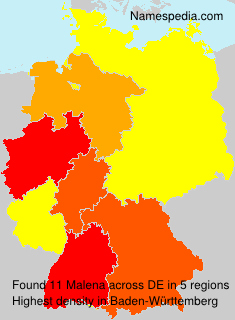 Familiennamen Malena - Germany