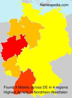 Surname Maletic in Germany