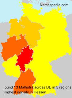 Familiennamen Malhotra - Germany