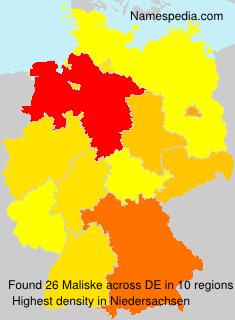 Surname Maliske in Germany