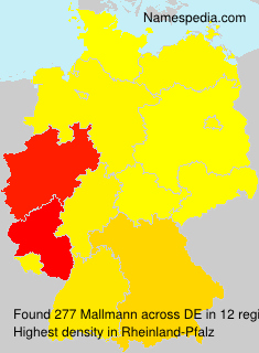 Surname Mallmann in Germany