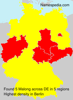 Surname Malong in Germany