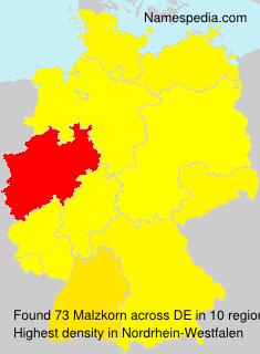 Surname Malzkorn in Germany