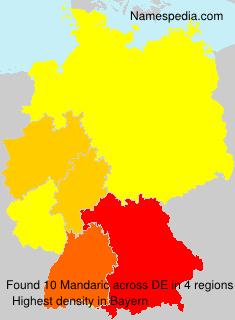 Surname Mandaric in Germany