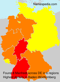Surname Manfredi in Germany