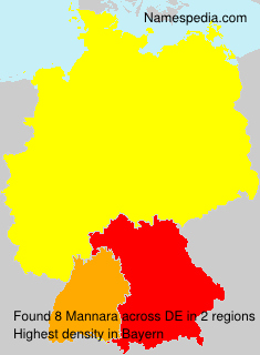 Surname Mannara in Germany