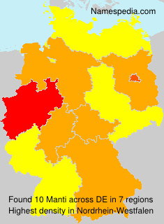 Surname Manti in Germany