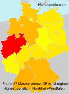 Familiennamen Maraun - Germany