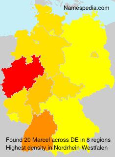 Familiennamen Marcel - Germany