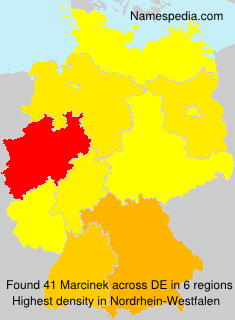 Surname Marcinek in Germany