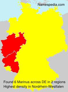 Surname Marinus in Germany