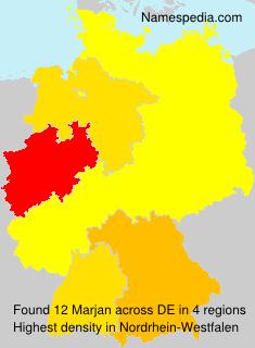 Familiennamen Marjan - Germany