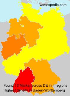 Surname Markaj in Germany
