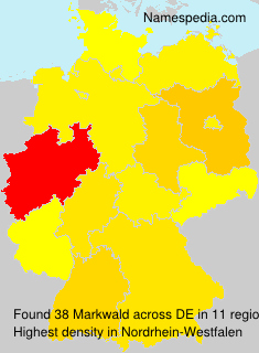 Surname Markwald in Germany