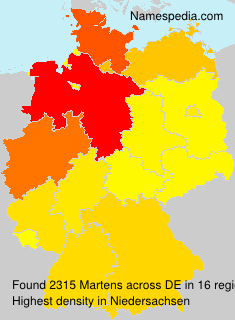 Surname Martens in Germany