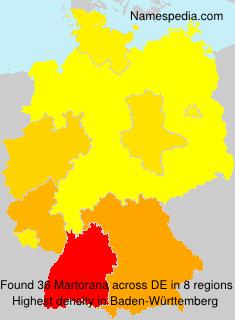 Surname Martorana in Germany