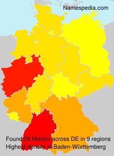 Surname Maslov in Germany