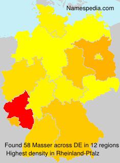 Familiennamen Masser - Germany