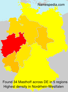 Surname Masthoff in Germany