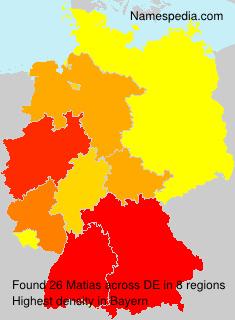 Surname Matias in Germany