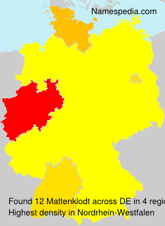 Surname Mattenklodt in Germany