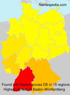 Surname Mattes in Germany